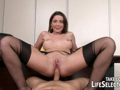 Office babes Lucy Heart and friends love hard cock