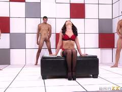 Three cocks for super sexy addict Adriana Chechik