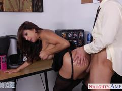 Office babe Francesca Le bounces on this thick shaft