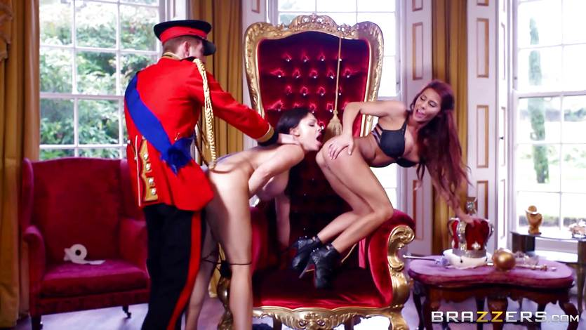 Madison Ivy and Aletta Ocean get a king size cock