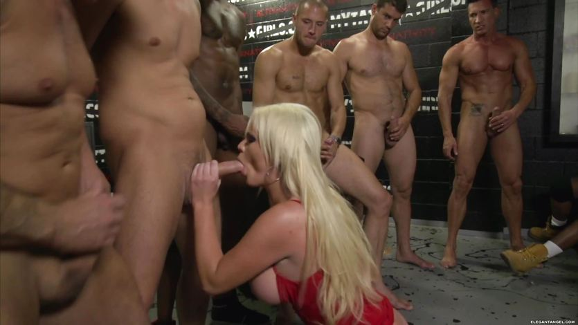 Gangbang fucking and DP for Alexis Ford