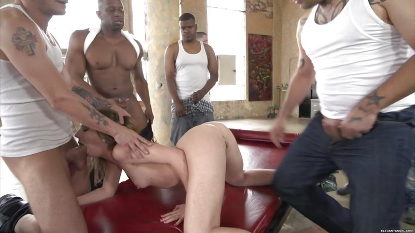 Stunning Chastity Lynn takes on a group of cocks