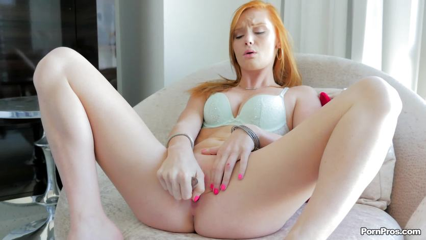 Super hot redhead Alex Tanner takes a length