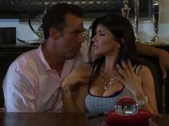 Romi Rain thanked with a tabletop fucking