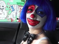 Clowning around with sexy babe Mikayla Mico