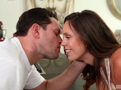 Jade Nile fucks her man at breakfast time