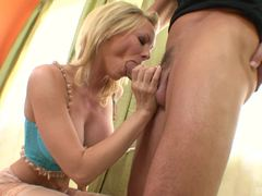 Holly Sampson takes this hard dick deep in her warm slot