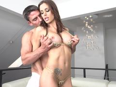Anal action with bikini honey Gia DeMarco