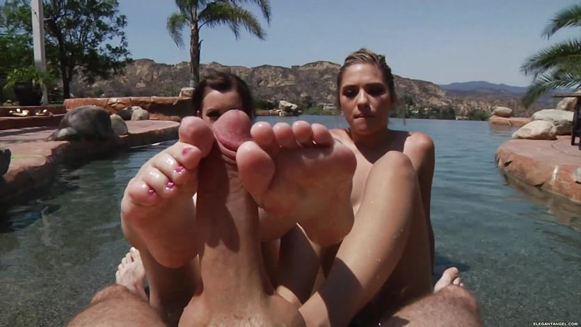 Lia Lor and Lexi Belle love to use their feet