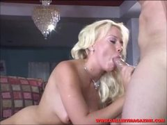 Holly Wellin shoves this hard dick down her throat