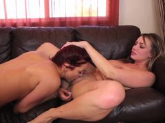 Jayden Cole munches on her partners warm pussy