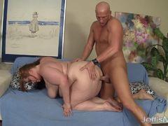 BBW Julie Ann Marie gets her moist pussy drilled