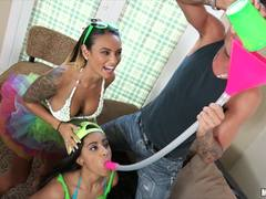 Fourway party with Valentina Vega and Natalia Mendez