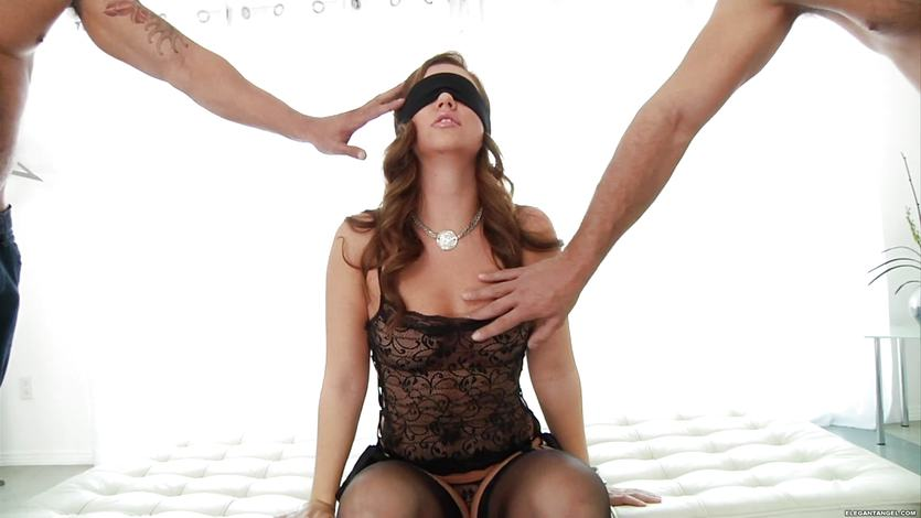 Blindfold sex threesome #15