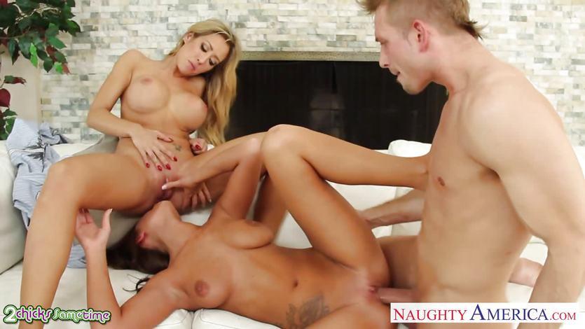 Ebony Anal Squirt Threesome Hd