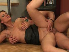 Samantha Jolie rides a huge cock