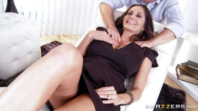 Big ava massage addams boob