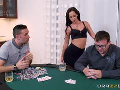 Jade Stevens gives her ass as a poker prize