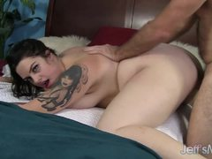 Chubby Marilyn Mayson gets her pussy drilled