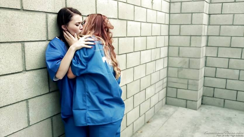 Micha Cross and Karlie Montana are lesbians in lock up