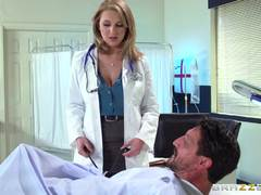 Dirty doc Brooke Wylde cures a hard dick