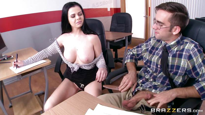 Cheating student Loni Evans gets naughty in class