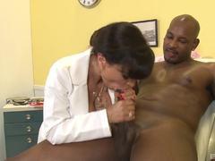 Sexy nurse Lisa Ann takes on BBC