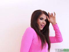 Teasing hot brunette Megan Coxxx