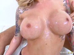Oily big cock fuck for blonde Payton West