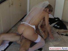 Horny bride Nicole Aniston fucking