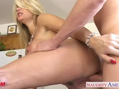 Beauty Vicky Vette takes this hard cock deep in her warm slot