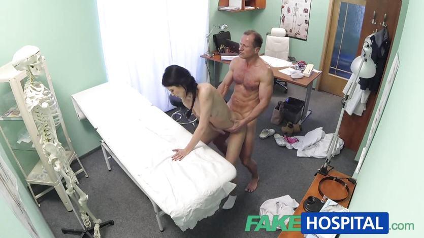 Patient sucking doctors cock
