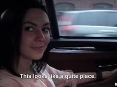 Car banging with dirty brunette Sheri V
