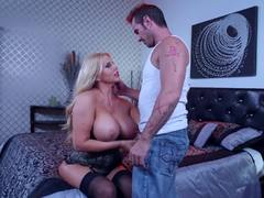 Cock hungry Karen Fisher rammed hard
