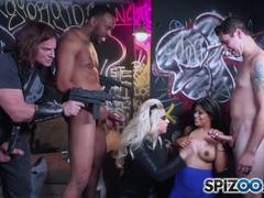 Gabby Quinteros and Vyxen Steel getting fully stuffed