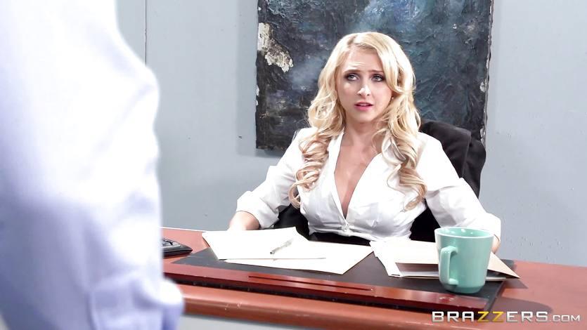 Alix Lynx enjoys some serious office desk sex