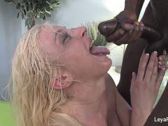 Leya Falcon doused with hard cock