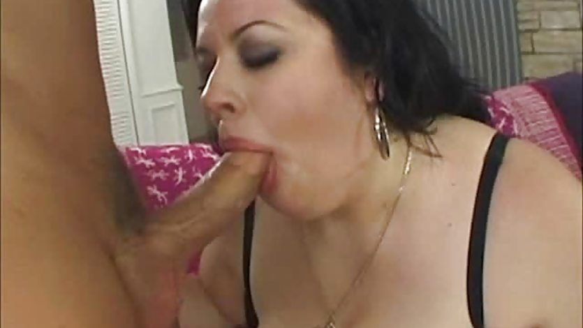 BBW Desiree Devine gobbles down this hard cock
