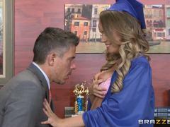Graduation fucking for gorgeous Alexis Adams