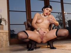 Sizzling Valentina Nappi gets hot and spicy alone