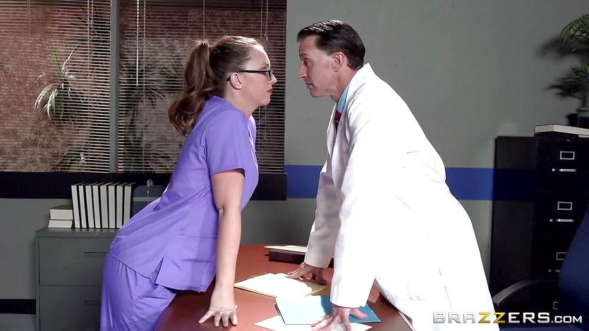 Maddy OReilly fucks a horny doctor on a desk
