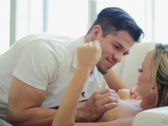 Sexy MILF Pristine Edge engulfs a toyboy cock