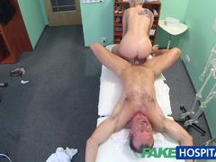 Fucking a hot blonde FakeHospital