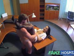 Gorgeous nurse seduces her patient
