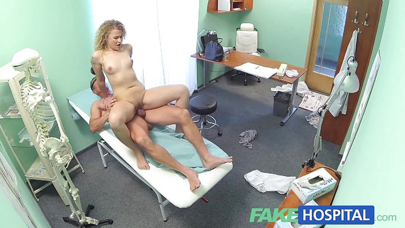 Horny patient bounces on doctors hard cock
