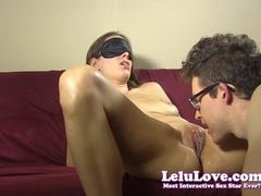 Lelu Love blind fold tease