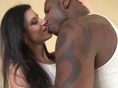 MILF babe India Summers takes black cock in her ass