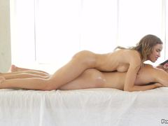 Oily Natasha White gets hot and horny with her man