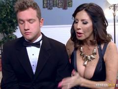 Naughty MILF Tara Holiday fucks the toyboy groom