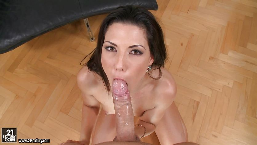 Alexa Tomas takes his sticky load of spunk in her mouth